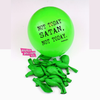 NOT TODAY SATAN Party & Birthday Balloons. Funny Balloons. Badass Balloons. Adult Party Favors and Party Supplies. - badassballoonco