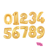 Giant Number Balloons in Gold, Silver, or Rose Gold - badassballoonco