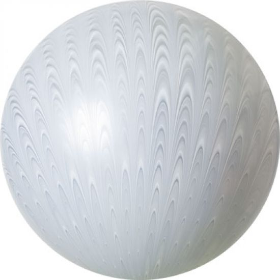 White Wedding Peacock Swirl 19inch Balloon