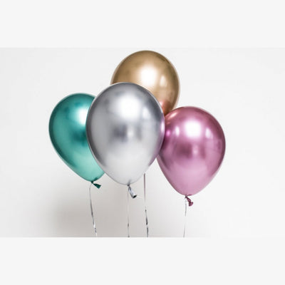Blue Chrome Balloons Pack