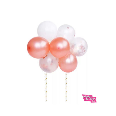 Hot Pink Cake Topper Mini Balloon Garland