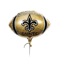 New Orleans Saints Playoff Balloons. Football Shaped Balloon