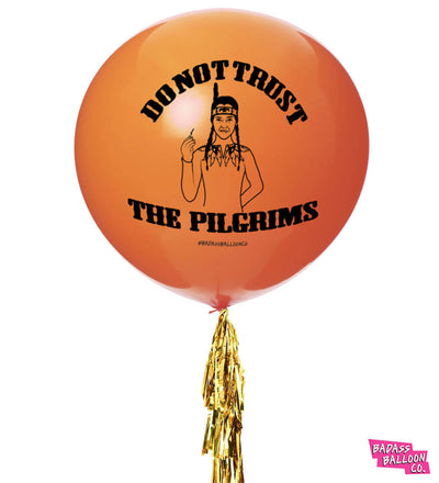 Wednesday Addams Thanksgiving 2-Pack Jumbo Balloons with Tassel