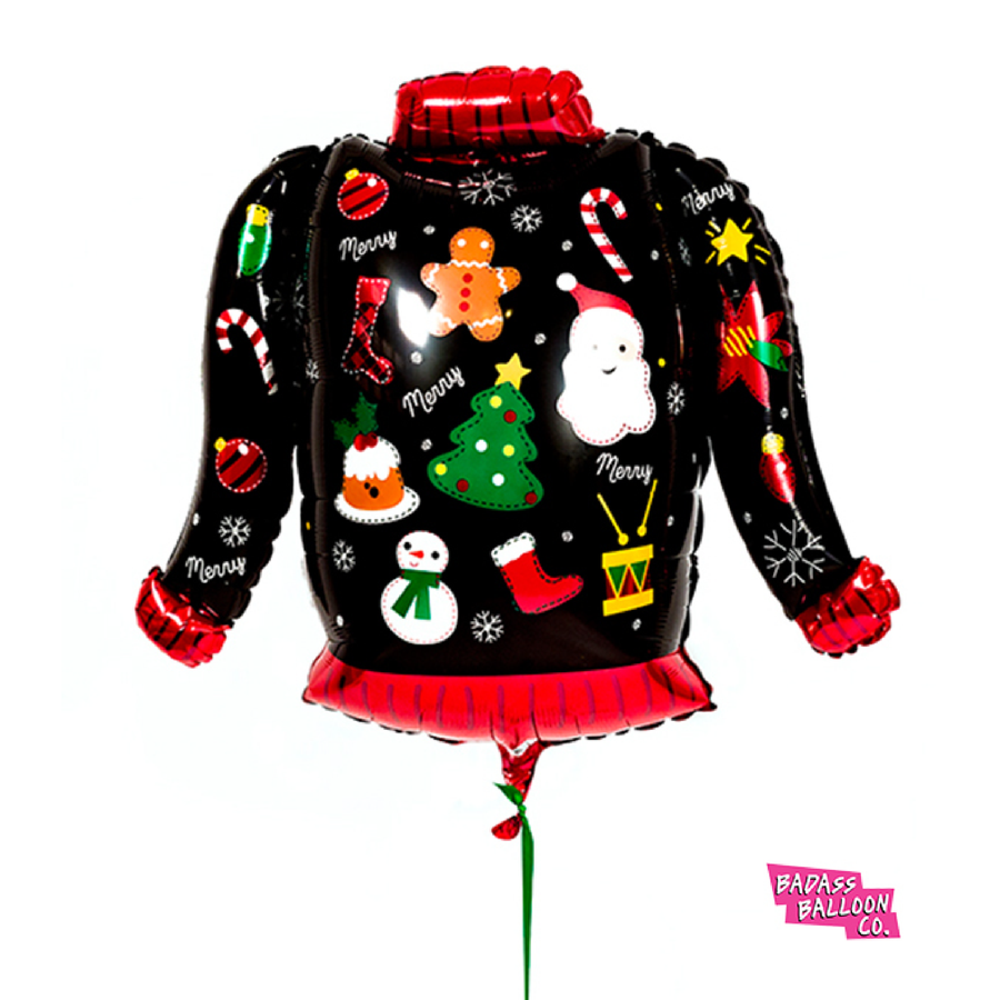 Ugly Christmas Sweater Giant Foil Balloon - badassballoonco