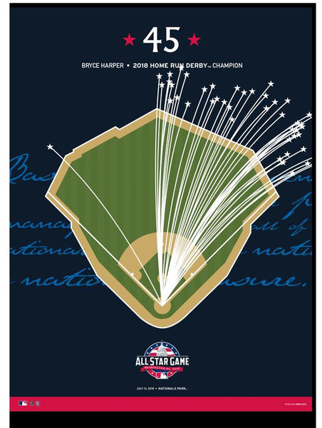 2018 Home Run Derby - Bryce Harper 45 Print