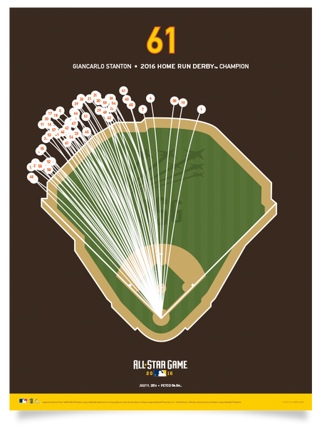 ASG Home Run Derby - Giancarlo Stanton 61 Print