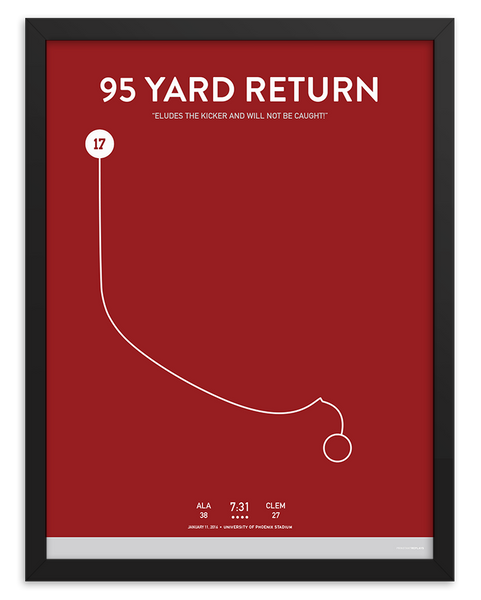 Alabama 95 Yard Return Poster