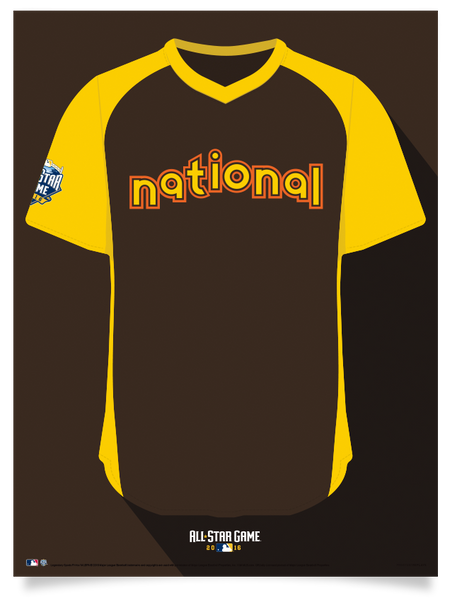 2016 National League All Star Jersey Print
