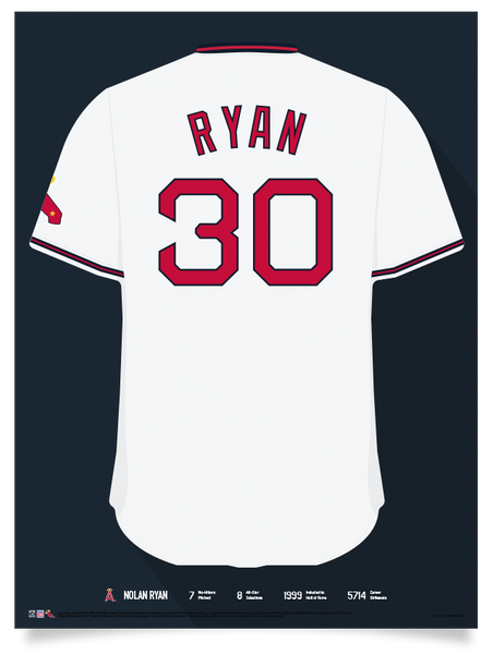 Angels Nolan Ryan Jersey Print