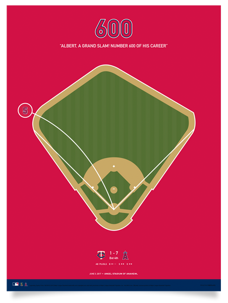 Angels Albert Pujols 600 Home Runs Poster