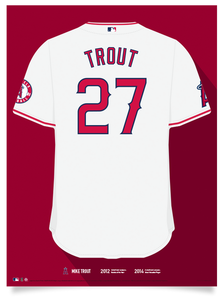 Angels Mike Trout Jersey Print
