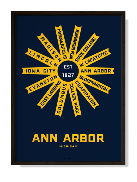 Ann Arbor, Michigan Print