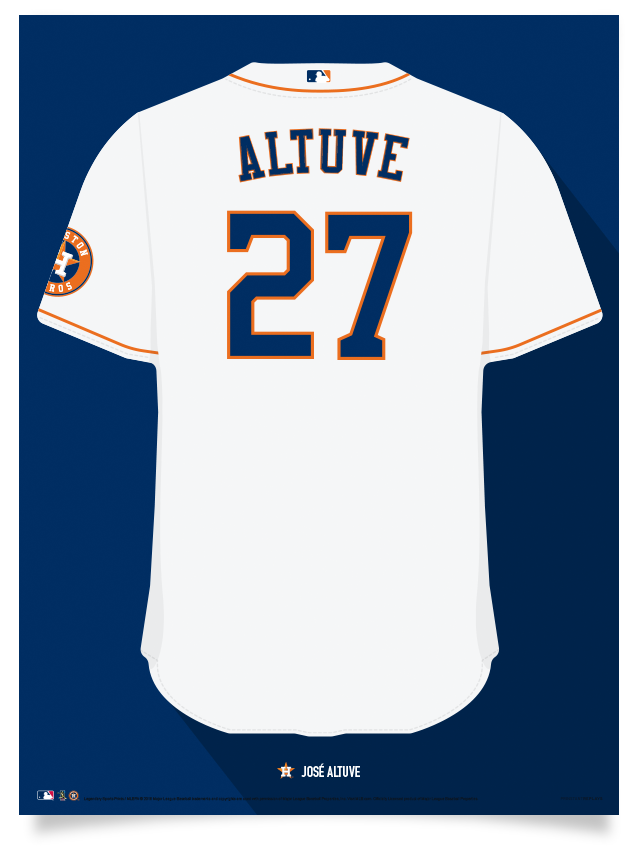 Houston Astros Jersey Print