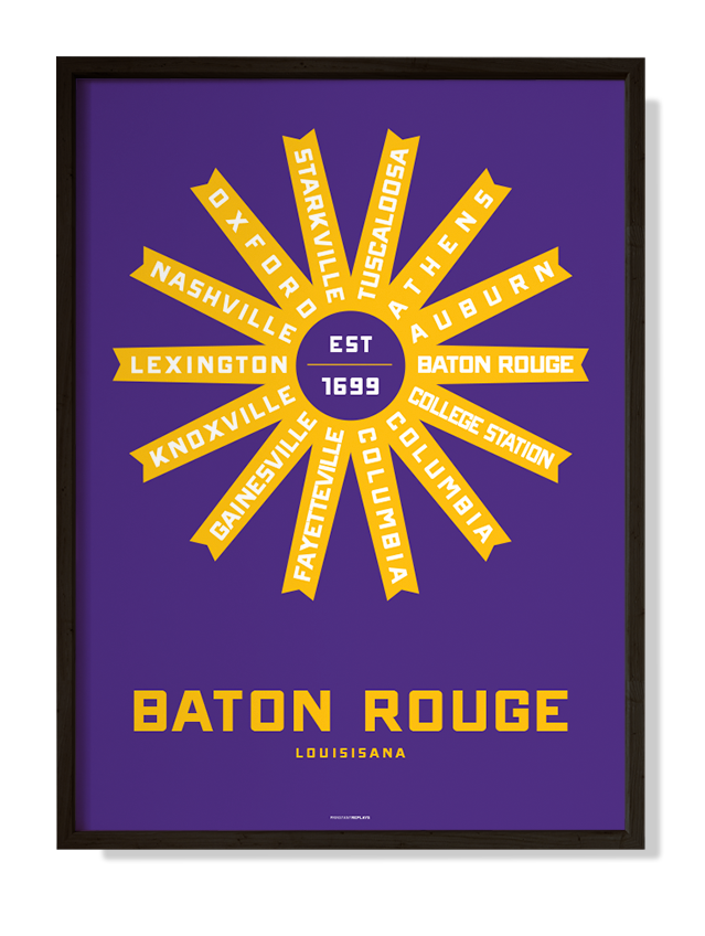 Baton Rouge, Louisiana Print