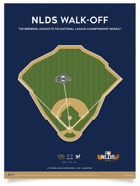 Brewers Nyjer Morgan NLDS Walk-Off Print