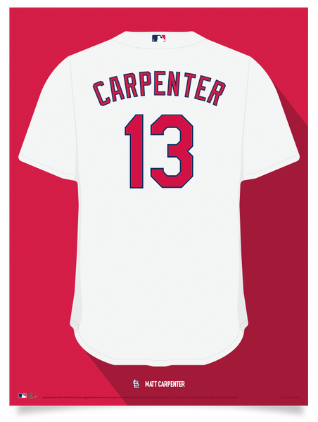 Cardinals Matt Carpenter Jersey Print