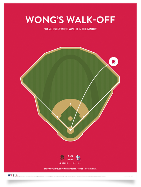 Cardinals Wong's Walk-Off Print