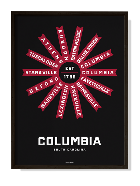 Columbia, South Carolina Print