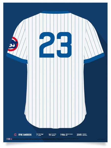 best website 46415 529b8 Cubs Ryne Sandberg Jersey Print