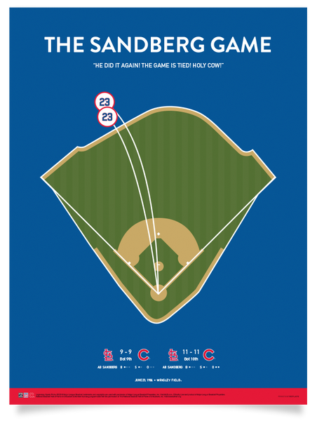 Cubs The Sandberg Game Print