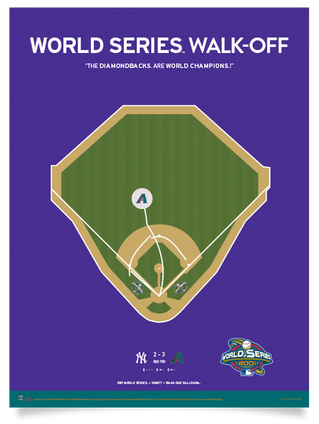 Diamondbacks Luis Gonzalez World Series Walk-Off Print