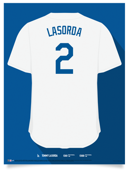 Dodgers Tommy Lasorda Jersey Print