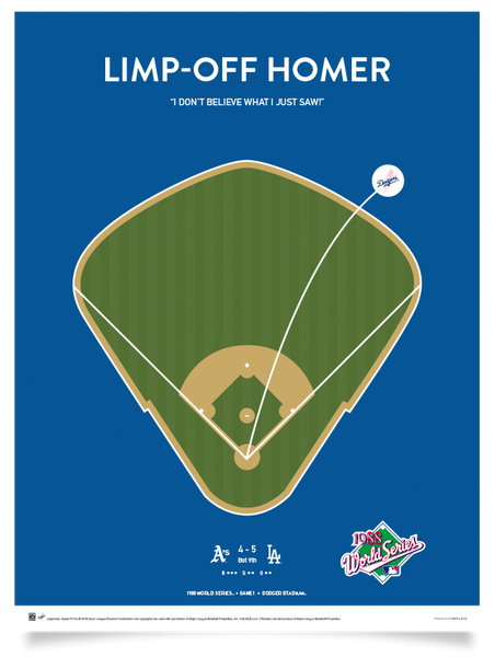 Dodgers Gibson's Limp-Off Home Run Print