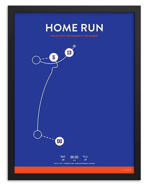 Florida Home Run Shot Poster