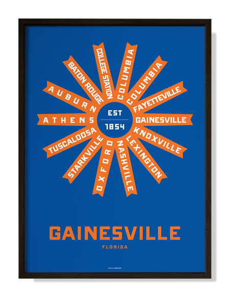 Gainesville, Florida Print