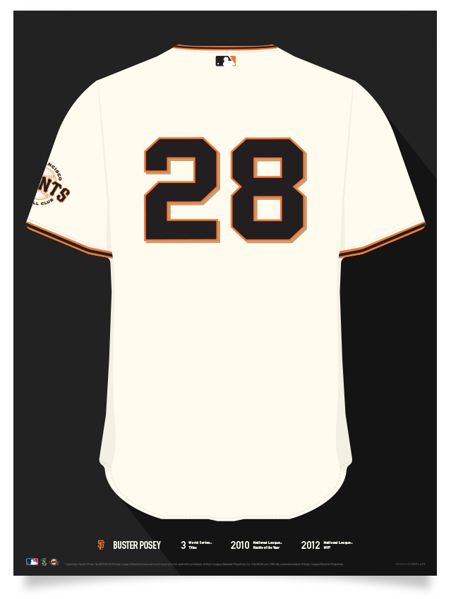 finest selection 230e2 faec4 Giants Buster Posey Jersey Print