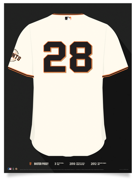 Giants Buster Posey Jersey Print