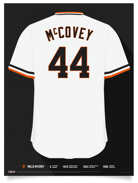 Giants Willie McCovey Jersey Print