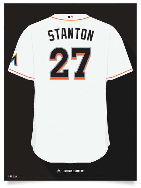 Marlins Giancarlo Stanton Jersey Print
