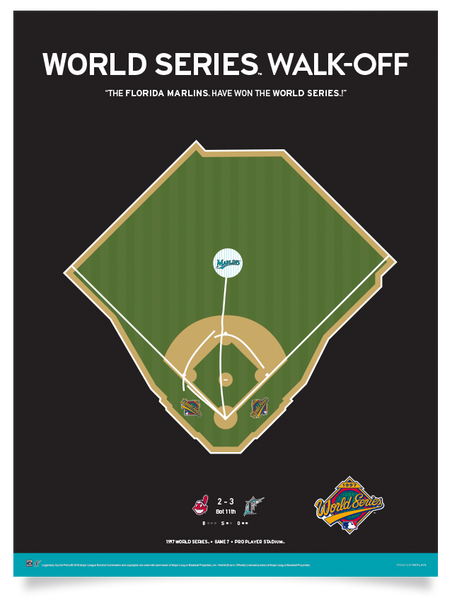 Marlins Renteria World Series Walk-Off Print