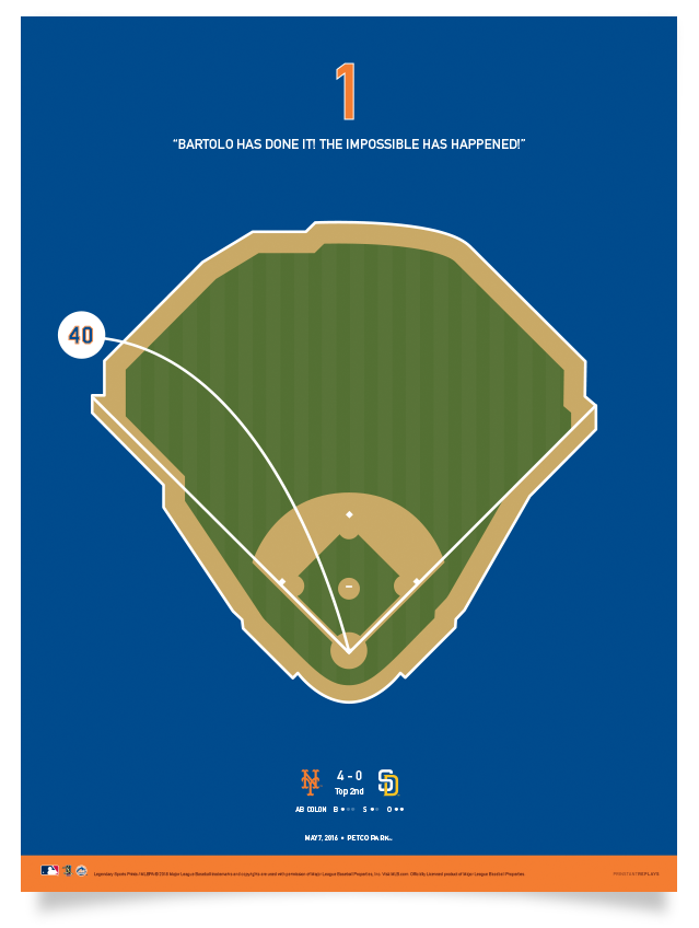 Mets Bartolo Colon's First Home Run Print