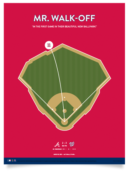 "Nationals Zimmerman Mr. Walk-Off - 12"" x 16"" Print"
