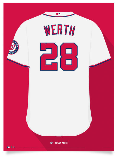 Nationals Jayson Werth Jersey Print