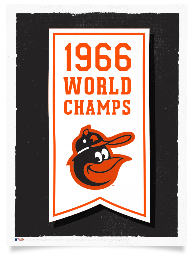 Orioles 1966 World Series Championship Flag Print