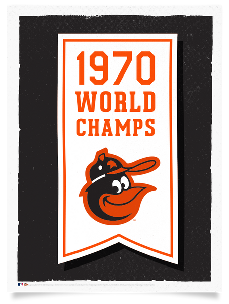 Orioles 1970 World Series Championship Flag Print