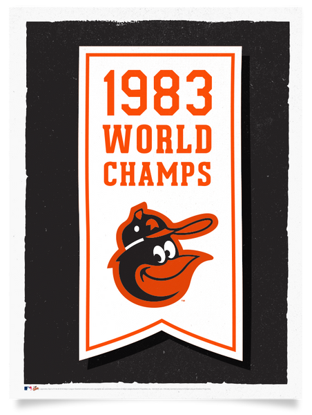 Orioles 1983 World Series Championship Flag Print