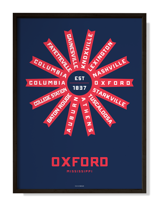 Oxford, Mississippi Print