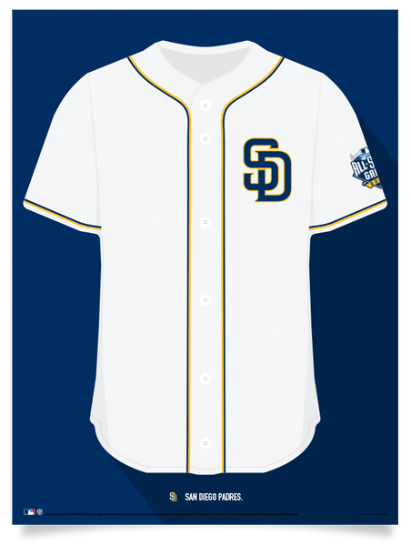 Padres 2016 Home Jersey Print