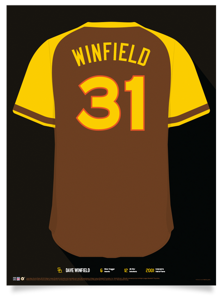 Padres Dave Winfield Jersey Print