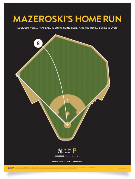 Pirates Mazeroski Walk-Off Print