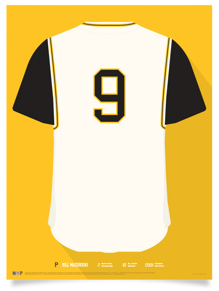 Pirates Bill Mazeroski Jersey Print