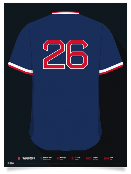 Red Sox Wade Boggs Jersey Print