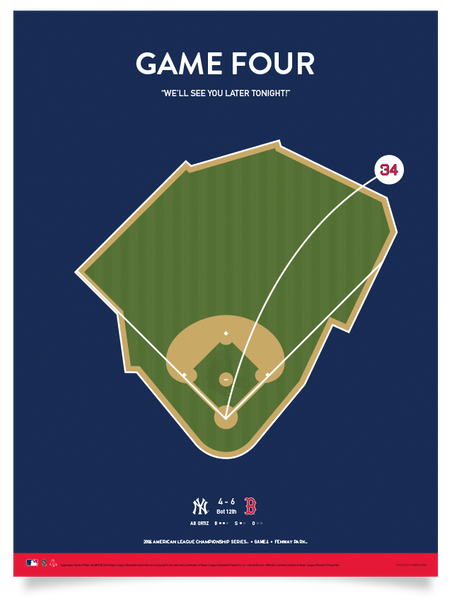 Red Sox Ortiz Game 4 Walk-Off Print