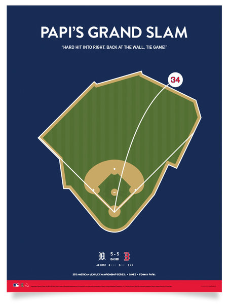 Red Sox Papi's Grand Slam Print