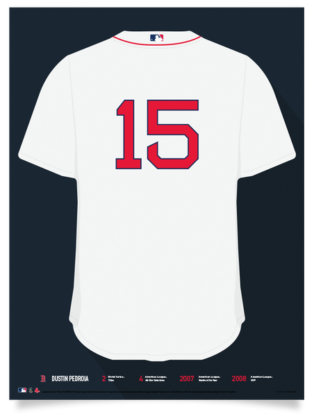 Red Sox Dustin Pedroia Jersey Print