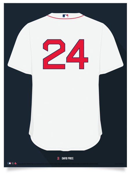 Red Sox David Price Jersey Print